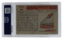 Lenny Moore Signed 1956 Topps #60 RC (PSA Encapsulated) at PristineAuction.com