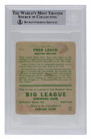 Fred Leach Signed 1933 Goudey #179 RC (BGS Encapsulated) at PristineAuction.com