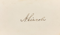 Abraham Lincoln Signed 2x3 Calling Card (JSA LOA & Beckett LOA - Autograph Grade 10) at PristineAuction.com