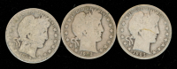 Lot of (3) Barber Half Dollars with 1902-S, 1905-S, 1909-O at PristineAuction.com