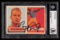 Paul Hornung Signed 1957 Topps #151 Rookie Card Reprint (BGS Encapsulated) at PristineAuction.com