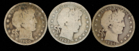 Lot of (3) 1894-1902 Barber Half Dollars at PristineAuction.com