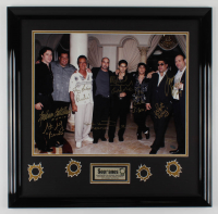 """The Sopranos"" 26x26.5 Custom Framed Photo Display Cast-Signed by (8) with Michael Imperioli, Steve VanZandt, James Gandolfini, Vincent Pastore, Tony Sirico, Federick Castellucio with Multiple Character Inscriptions (JSA ALOA) at PristineAuction.com"