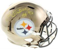 "Jack Lambert Signed Steelers Full-Size Chrome Speed Helmet Inscribed ""HOF '90"" (Beckett COA) at PristineAuction.com"