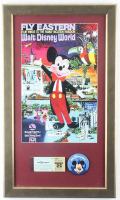 Disney World 15.5x25.5 Custom Framed Print with Disney World Pin & Vintage Ticket at PristineAuction.com