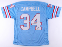 "Earl Campbell Signed Jersey Inscribed ""HOF 91"" (Beckett Hologram) at PristineAuction.com"