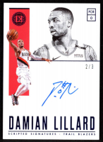 Damian Lillard 2018-19 Panini Encased Scripted Signatures Blue #39 at PristineAuction.com