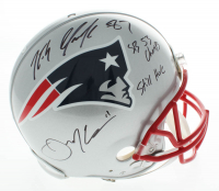 """Rob Gronkowski & Julian Edelman Signed Patriots Full-Size Authentic On-Field Helmet Inscribed """"SB 53 Champs"""" & """"Still Here"""" (Beckett COA) at PristineAuction.com"""