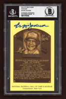 Reggie Jackson Signed Gold Hall of Fame Postcard (BGS Encapsulated) at PristineAuction.com