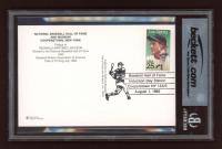 Reggie Jackson Signed Gold Hall of Fame Postcard (BGS Encapsulated) at PristineAuction.com