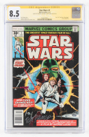"Howard Chaykin & Tom Palmer Signed 1977 ""Star Wars"" Issue #1 Marvel Comic Book (CGC 8.5) at PristineAuction.com"