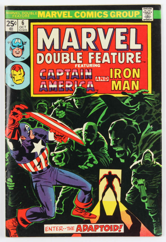 "Vintage 1974 ""Marvel Double Feature: Captain America & Iron Man"" Issue #6 Marvel Comic Book at PristineAuction.com"