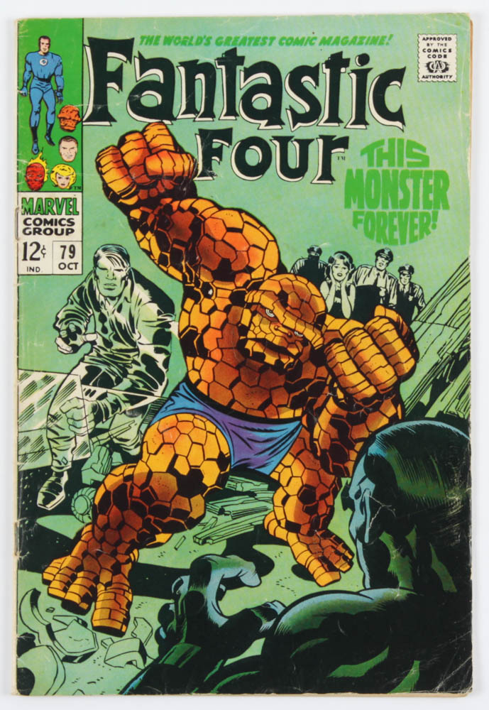 """Vintage 1968 """"Fantastic Four"""" Issue #79 Marvel Comic Book at PristineAuction.com"""