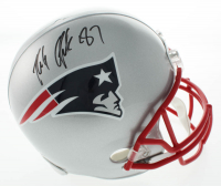 Rob Gronkowski Signed Patriots Full-Size Speed Helmet (Beckett COA) at PristineAuction.com