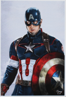 Tony Santiago - Captain America - The Avengers - Marvel Comics 13x19 Signed Lithograph (PA COA) at PristineAuction.com
