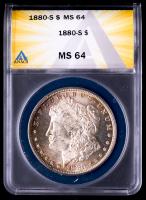 1880-S Morgan Silver Dollar (ANACS MS64) (Toned) at PristineAuction.com