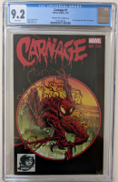"2016 ""Carnage"" Issue #1 Phantom 301 Variant Marvel Comic Book (CGC 9.2) at PristineAuction.com"
