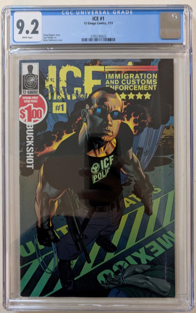 "2011 ""I.C.E."" Issue #1 12 Gauge Comic Book (CGC 9.2) at PristineAuction.com"