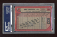 Ken Griffey Jr. Signed LE 1989 Bowman #220 RC (PSA Encapsulated) at PristineAuction.com