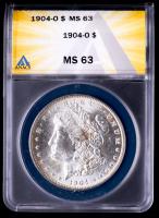 1904-O Morgan Silver Dollar (ANACS MS63) at PristineAuction.com