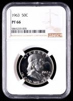 1963 50¢ Franklin Silver Half-Dollar (NGC PR66) at PristineAuction.com