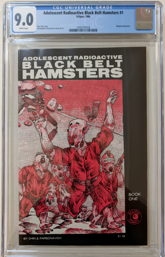 """1986 """"Adolescent Radioactive Black Belt Hamsters"""" Issue #1 Eclipse Comic Book (CGC 9.0) at PristineAuction.com"""