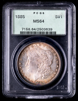 1885 Morgan Silver Dollar (PCGS MS64) (OGH, Toned) at PristineAuction.com