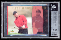 Tiger Woods 2001 Upper Deck Tiger's Championship Collection #TCC17 00 AT&T (BGS 9) at PristineAuction.com