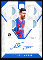 Lionel Messi 2019-20 Chronicles Soccer Cornerstones Auto Prime #C-LM at PristineAuction.com