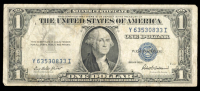 1935-F U.S. $1 One Dollar Blue Seal Silver Certificate Note at PristineAuction.com