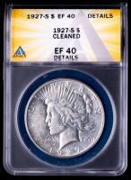 1927-S Peace Silver Dollar (ANACS EF40 Details) at PristineAuction.com