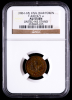 (1861-65) Civil War Token - United We Stand (NGC AU55 BN) at PristineAuction.com
