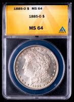 1885-O Morgan Silver Dollar (ANACS MS64) at PristineAuction.com