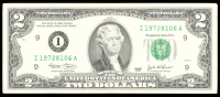 2003 $2 Two-Dollar Green Seal Federal Reserve Note at PristineAuction.com