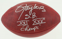 "Lawrence Taylor Signed ""The Duke"" Official NFL Football Inscribed ""S.B. XXI XXV Champs"" (JSA COA) at PristineAuction.com"