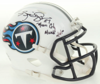 "Kevin Dyson Signed Titans Speed Mini-Helmet Inscribed ""Music City Miracle 01/08/00"" (JSA COA) at PristineAuction.com"
