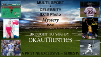 OKAUTHENTICS Multi-Sport & Celebrity 8x10 Photo Mystery Box Series IV at PristineAuction.com