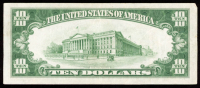 1934-A $10 Ten Dollar Green Seal U.S. Federal Reserve Note at PristineAuction.com