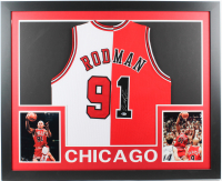 Dennis Rodman Signed 35x43 Custom Framed Jersey (Beckett COA) at PristineAuction.com