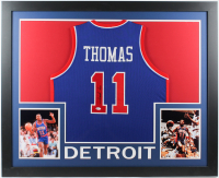 Isiah Thomas Signed 35x43 Custom Framed Jersey (Beckett Hologram) at PristineAuction.com