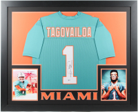 Tua Tagovailoa Signed 35x43 Custom Framed Jersey (Beckett Hologram) at PristineAuction.com