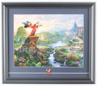 "Thomas Kinkade ""Fantasia"" 14x16 Custom Framed Print Display with Pin at PristineAuction.com"