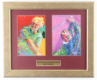 """LeRoy Neiman """"Jack Nicklaus and Arnold Palmer"""" 14.5x17.5 Custom Framed Print Display at PristineAuction.com"""