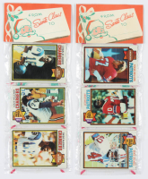 Lot of (8) 1979 Topps Unopened Football & Baseball Christmas Rack Packs of (12) Cards with #389 Ed O'Neil All-Pro, #291 Jack Gregory All-Pro, & #233 Charlie Joiner All-Pro at PristineAuction.com