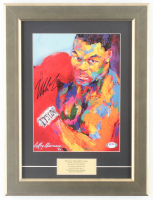 "Mike Tyson Signed LeRoy Neiman ""Mike Tyson"" 12.5x16.5 Custom Framed Print Display (PSA COA) at PristineAuction.com"