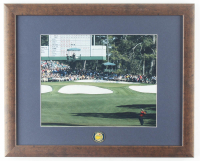 """Tiger Woods """"Masters"""" 12.5x15.5 Custom Framed Display with Original Masters Pin at PristineAuction.com"""