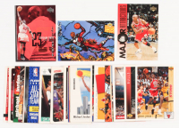 Lot of (42) 1990's Michael Jordan Basketball Cards with 1998-99 Upper Deck #175 Checklist, 1992-93 Upper Deck #506 FAN, 1995-96 Upper Deck #337 David Hanson MA at PristineAuction.com