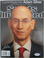 Adam Silver Signed 2014 Sports Illustrated Magazine (PSA COA) at PristineAuction.com