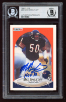 """Mike Singletary Signed 1990 Fleer #299 Inscribed """"HOF 98"""" (BGS Encapsulated) at PristineAuction.com"""