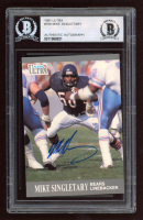 Mike Singletary Signed 1991 Ultra #160 (BGS Encapsulated) at PristineAuction.com